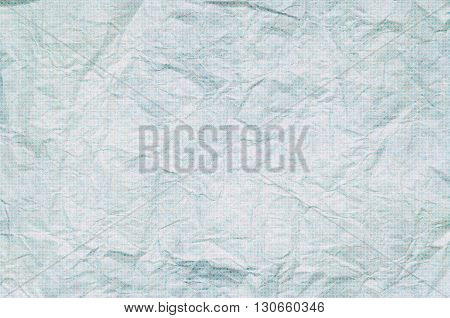 Crumpled Paper Background With A Texture Of Squares