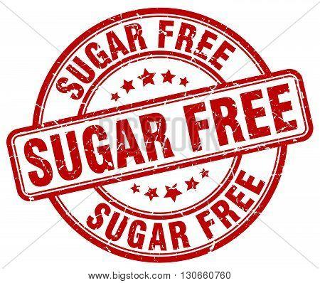 sugar free red grunge round vintage rubber stamp