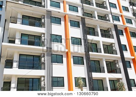 Chonburi Thailand - NOVEMBER 06, 2014. New modern condominium building for sale in Chonburi Thailand on NOVEMBER 06, 2014.