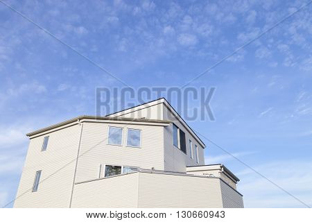 Aichi JAPAN -September 15, 2015:Home and blue sky background in Aichi JAPAN.house or home for Rent on September 15, 2015.