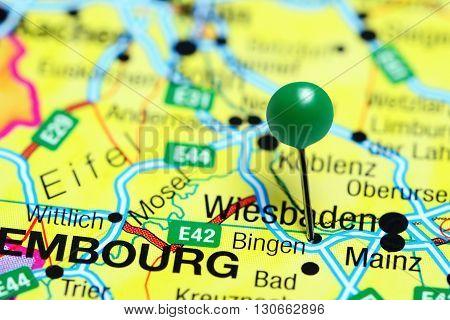 Bingen pinned on a map of Germany