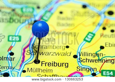 Freiburg pinned on a map of Germany