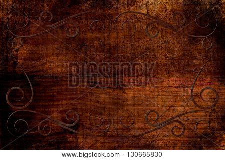 Antique Frame On Background With Texture