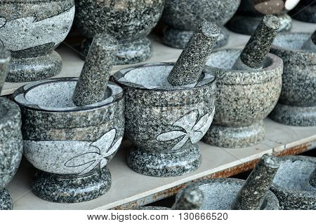 Angsila's stone mortar and pestle, for kitchen and herb