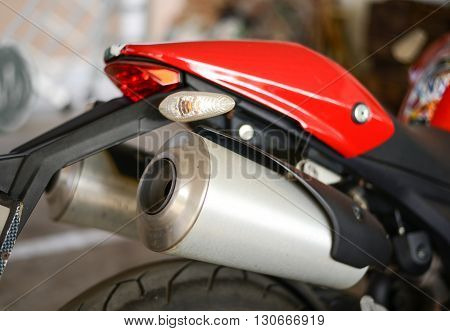 Motorcycle twin exhaust super bike, Speed, Power