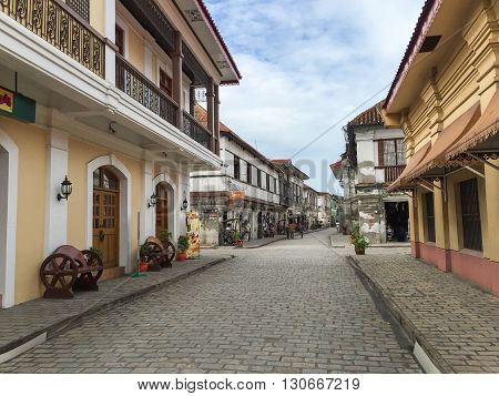 Vigan Philippines - July 25 2015 : Historic Town of Vigan. Vigan is a UNESCO World Heritage Site in that it is one of the few Spanish colonial town