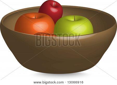 vector illustration of apples