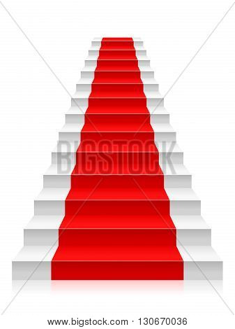 Staircase on a white background. Vector illustration.