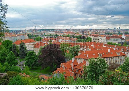 Prague. Medieval architecture. Awesome picture. Prague cityscape.