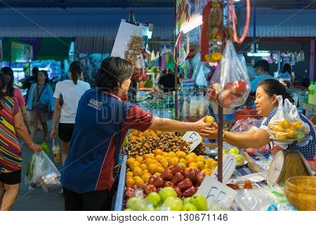 Thai Exotic Fruits In Market