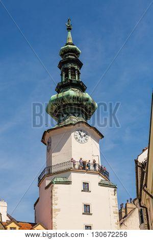 Bratislava, Slovakia - 21 May 2016: Tower Of St. Michael