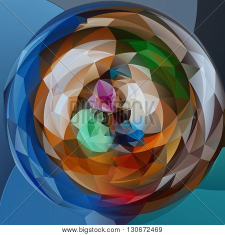 abstract modern artistic rounded shapes background - full color spectrum colors