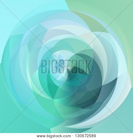 abstract modern artistic rounded shapes background - icy light blue colors