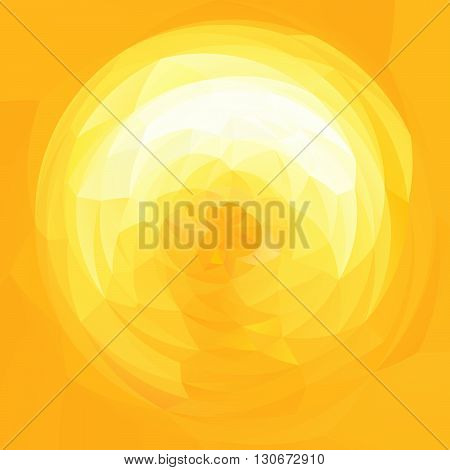 abstract modern artistic rounded shapes background - sunshine yellow colors