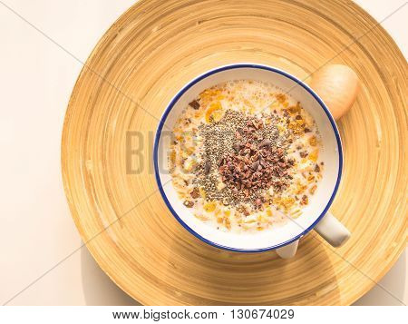 Cereal and organic dried food for good healthy