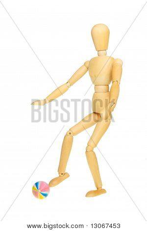 Manikin Kicking Ball