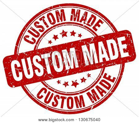 custom made red grunge round vintage rubber stamp