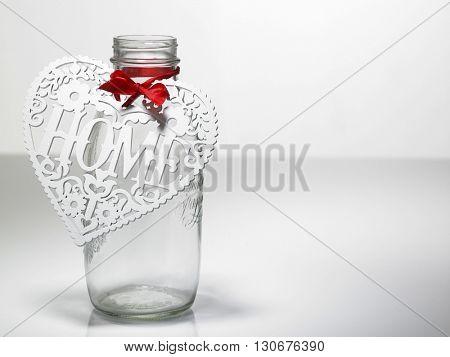 Heart shape on the jar savings.