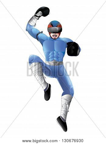 Boxing man - Character Design.It's for cartoon and animation.