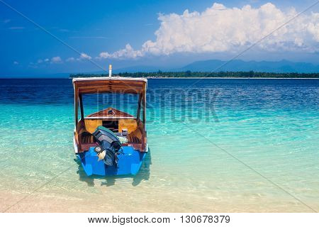 Boat On A Beautiful Tropical Beach