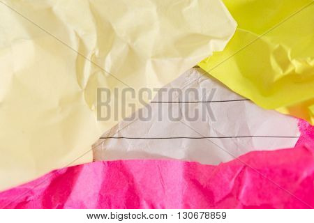 Success Concept And Idea Crumpled Paper Space For Text