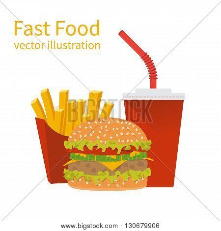 Fast Food, Vector Illustration