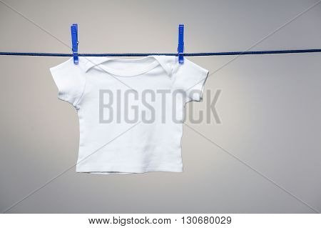 Baby Shirt On Clothesline