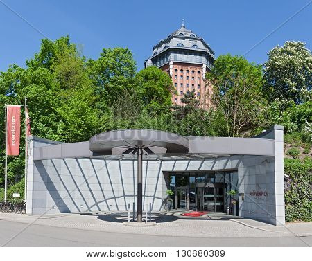 HAMBURG, GERMANY - MAY 13, 2016: hotel in the former water tower in schanzenpark