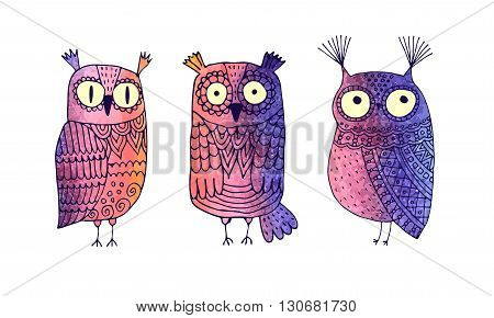 abstract image of an owl. Vector. Cartoon.