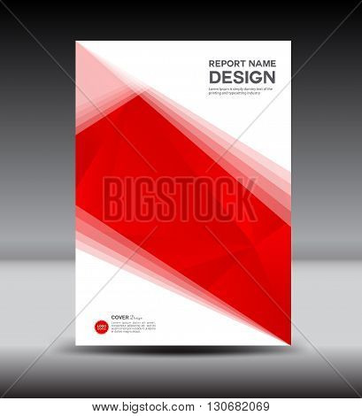 red and white Cover design cover Annual report brochure flyer