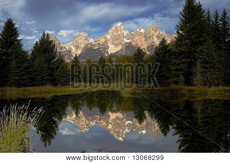 Morning Reflection in the Tetons