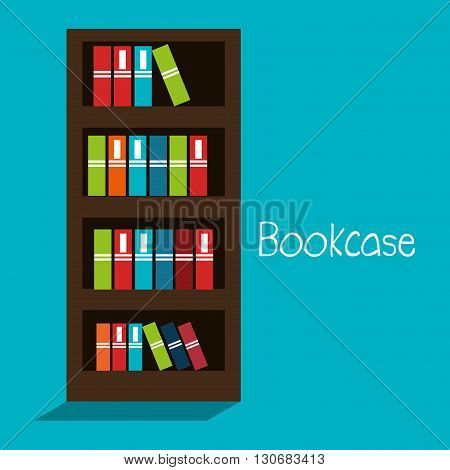 bookcase isolated design, vector illustration eps10 graphic