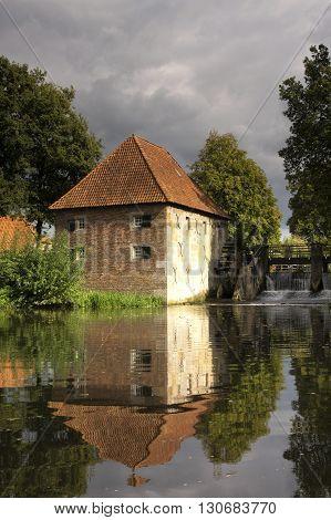 Watermill de Mallumsche molen near Eibergen in the Dutch region Achterhoek