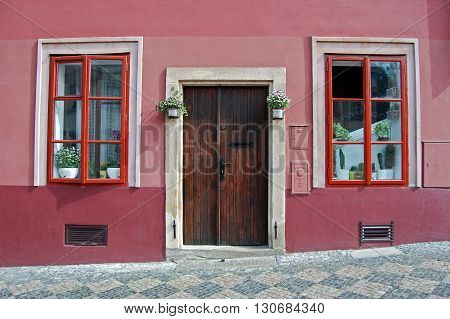 Spring in Prague. Hradchany and its streets. Colorful background