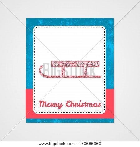 Sled of Santa Claus. Christmas collection. Doodle stylized vector illustration.
