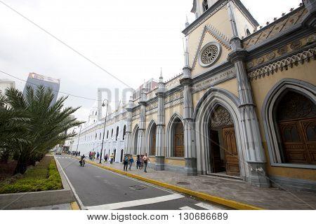 CARACAS VENEZUELA - MAY 05 2014 - supreme court of justice in caracas venezuela