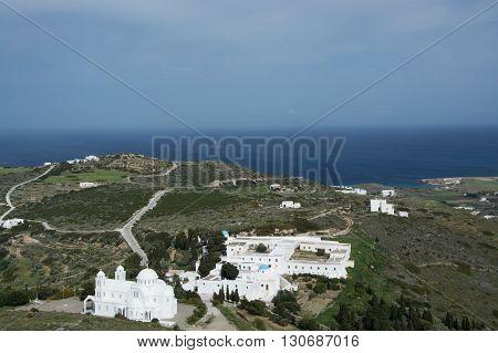 Monestary Moni Agiou Arseniou, Paros, Greece