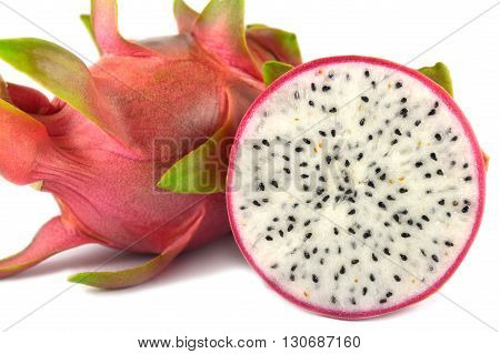 Dragon fruit, Hylocereus undatus, Family Cactaceae, Central of Thailand