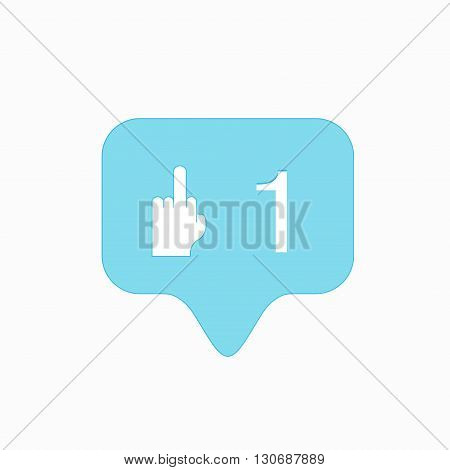 vector modern middle finger up icon isolated on white background.