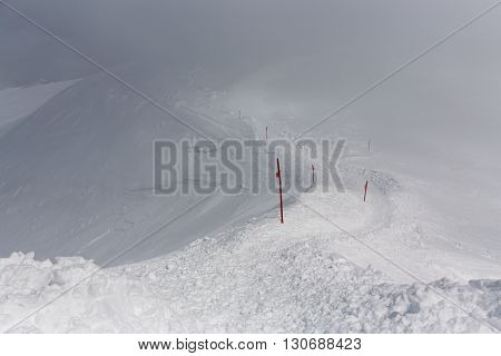 trail in the mountains. Climb to the top. mountaineering