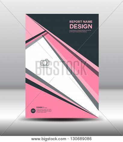 Pink Annual report pink Cover design flyer template vector
