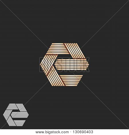 Luxury Letter E Orange Monogram, Overlapping Parallel Line Geometric Shape Mockup T-shirt Print, Int