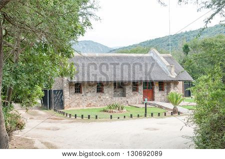 BAVIAANSKLOOF SOUTH AFRICA - MARCH 6 2016: The Baviaanskloof Nature Reserve Office and reception at Komdomo Camp Site