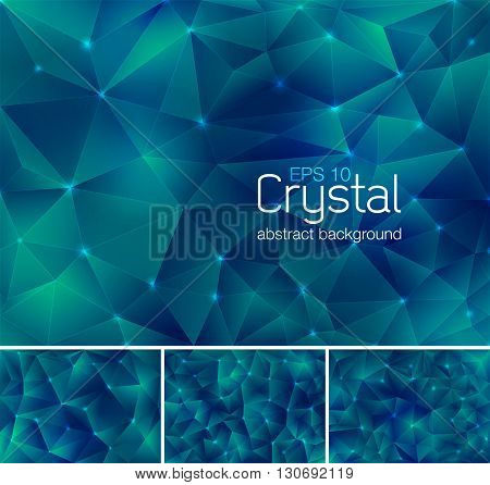 Crystal abstract background. Each background separately on different layers. Available in 4 variants and created in RGB mode