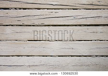 white grunge wood planking background. Scratched paint
