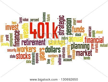 401K, Word Cloud Concept 2