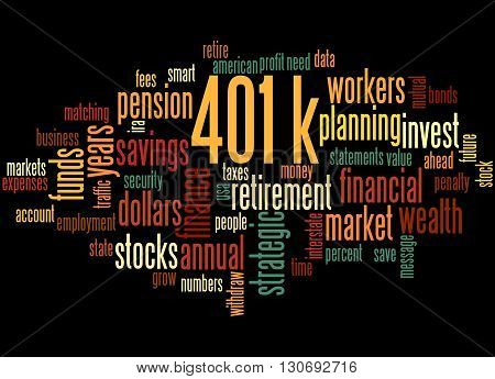 401K, Word Cloud Concept 5