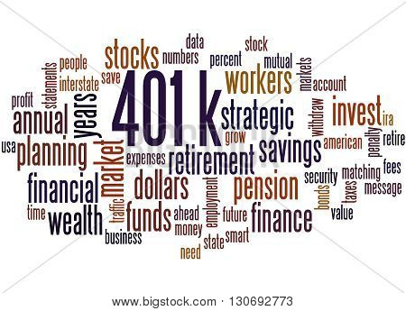 401K, Word Cloud Concept 8