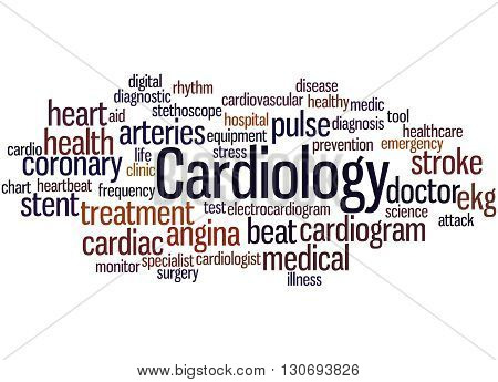 Cardiology, Word Cloud Concept 8