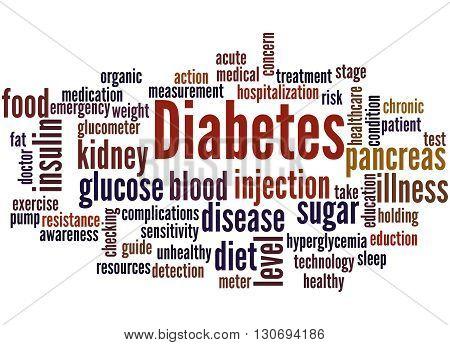 Diabetes, Word Cloud Concept 9